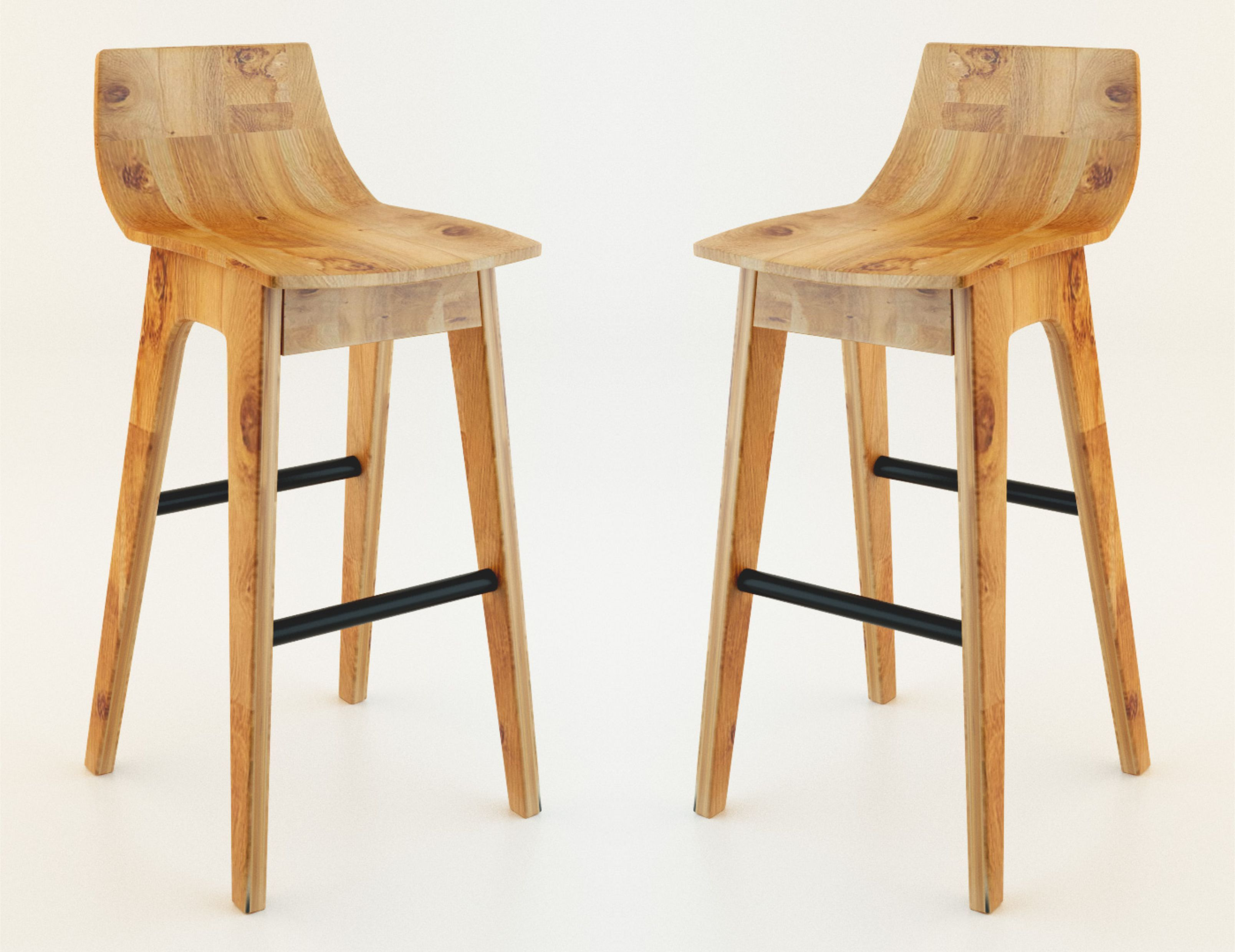 chair stools wooden eames replica chairs melbourne bar stool 3d model max cgtrader