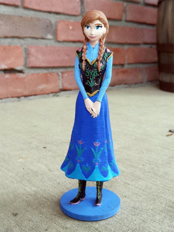 Disneys Frozen Anna 3D Model 3D printable stl  CGTradercom