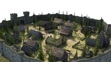 medieval fantasy town 3d poly low vr models ar cgtrader obj c4d fbx max exterior