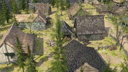 medieval fantasy town 3d low poly vr ar cgtrader obj fbx c4d max