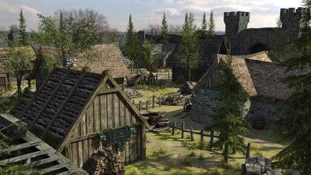 medieval fantasy town 3d low poly vr max ar models cgtrader obj fbx c4d reality virtual games exterior