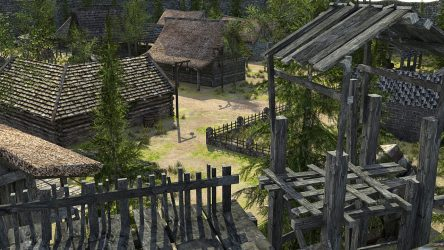 fantasy medieval town low poly 3d vr ar cgtrader obj fbx c4d max