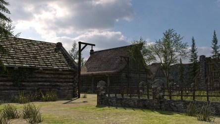 medieval fantasy town low poly 3d vr ar cgtrader fbx c4d obj max models