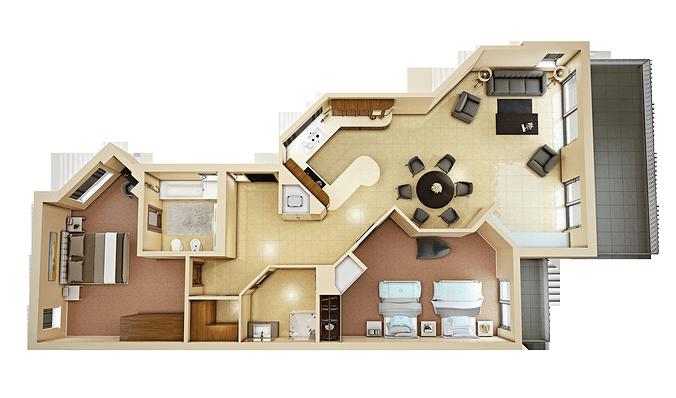 3d floor plan 4  CGTrader