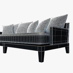 Holly Hunt Sofa Cost Room And Board Sectional Christian Liaigre For Opium 3d Model Max