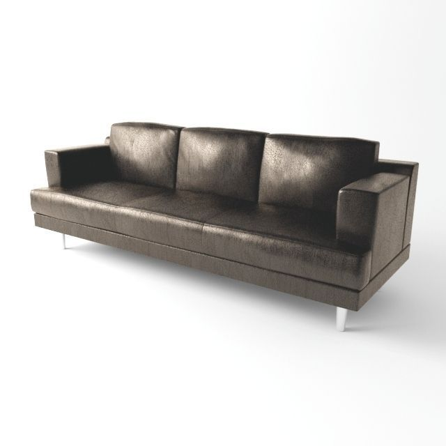 Simple leather sofa free 3D Model MAX