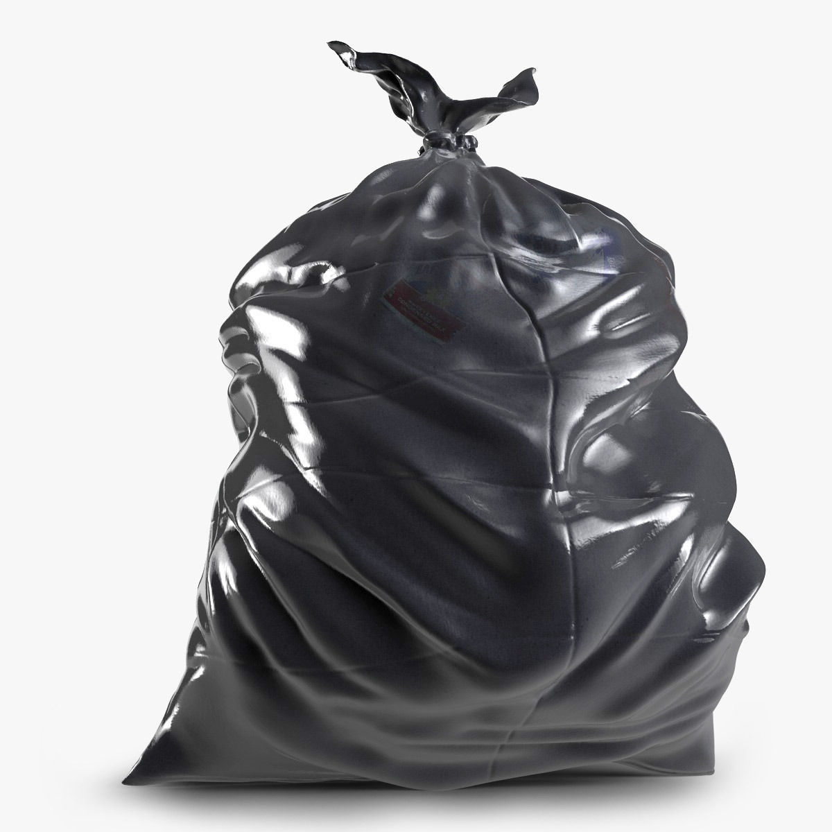 bin bags chairs black and white office chair trash bag 3d model obj 3ds fbx c4d cgtrader