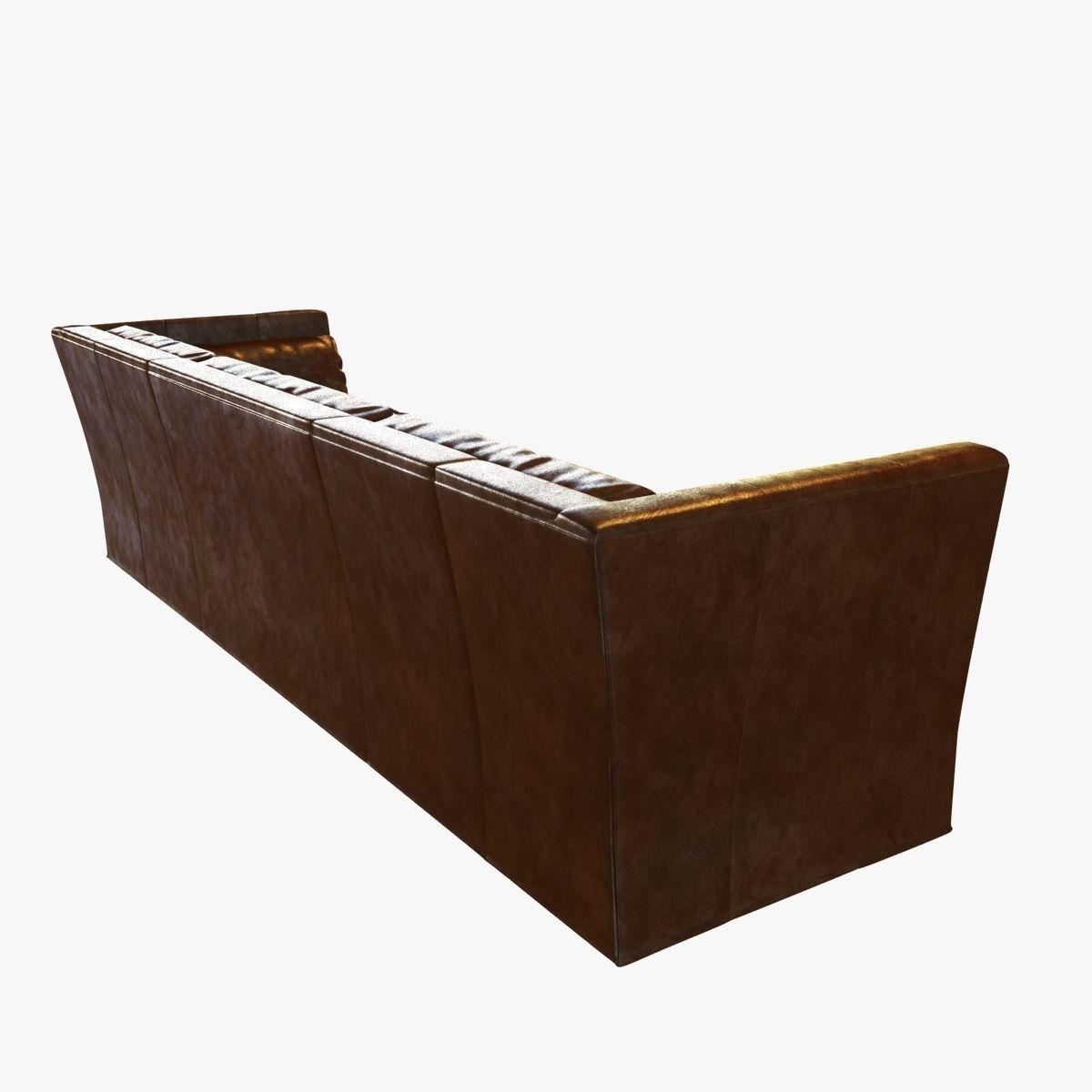 belgian shelter arm sofa curved sectional modern restoration hardware leather 3d