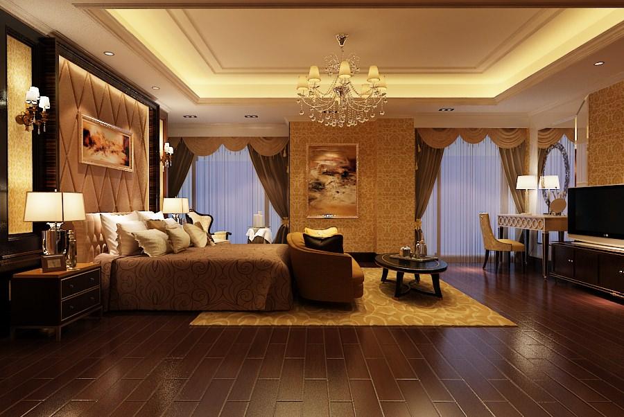 Elegant Master Bedroom B2-c12 3D Model .max