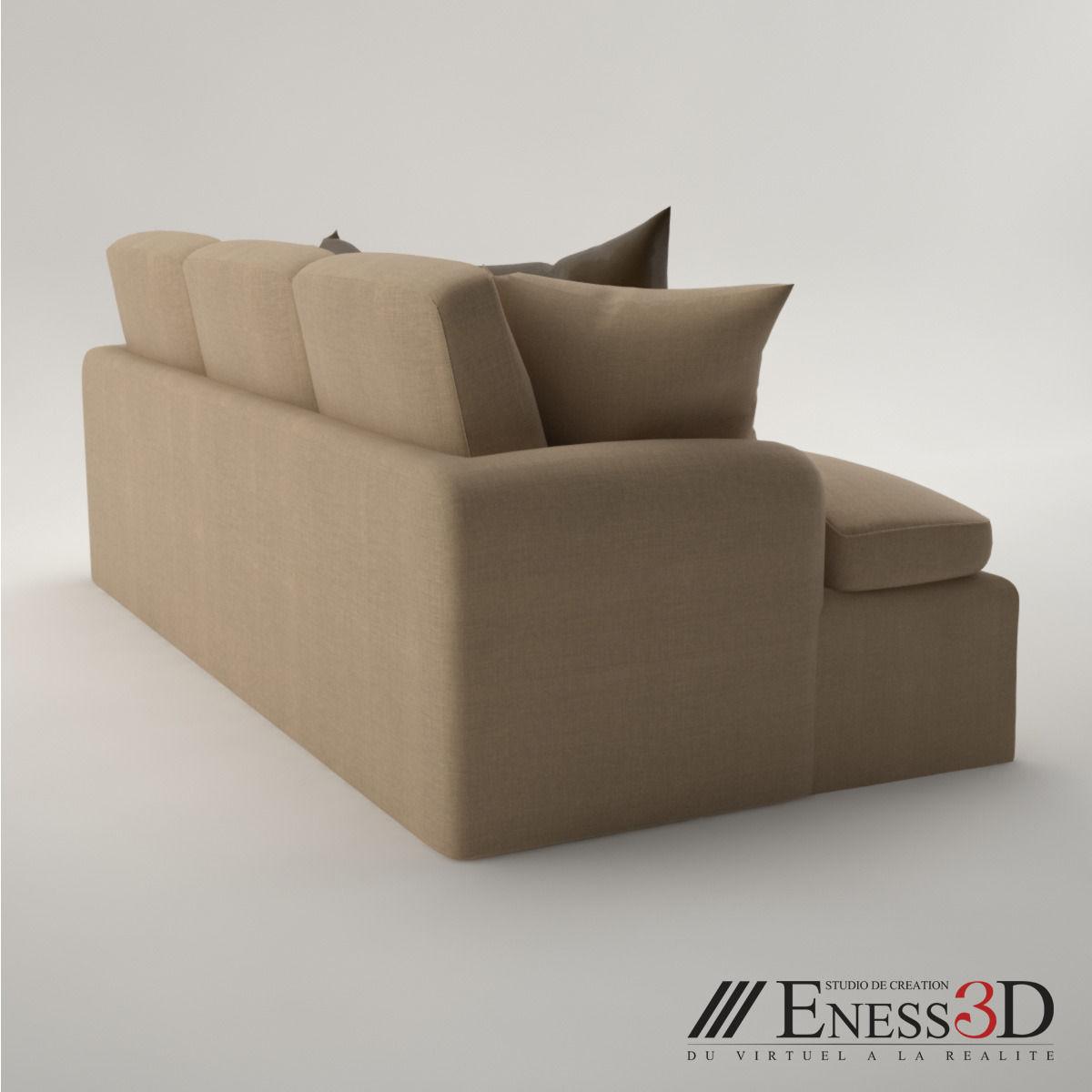 baker furniture max sofa 8 foot pro 2496 3d model obj fbx mtl cgtrader