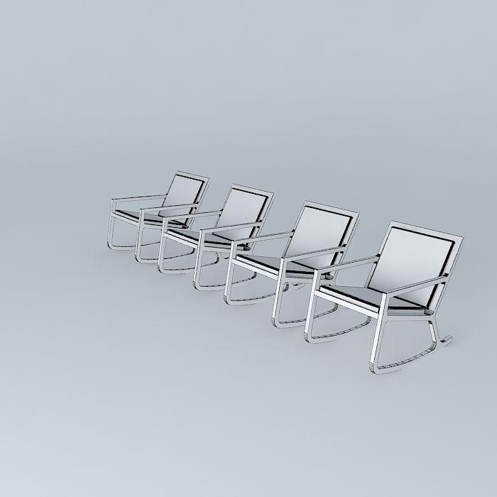 chair Habitat Rocker 3D Model MAX OBJ 3DS FBX STL DAE