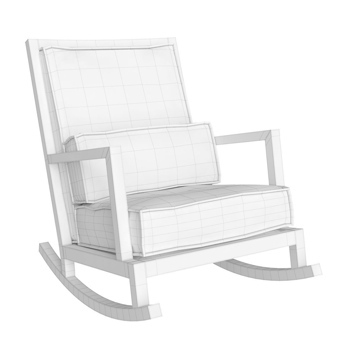 crate and barrel rocking chair cherner side jeremiah fabric back 3d