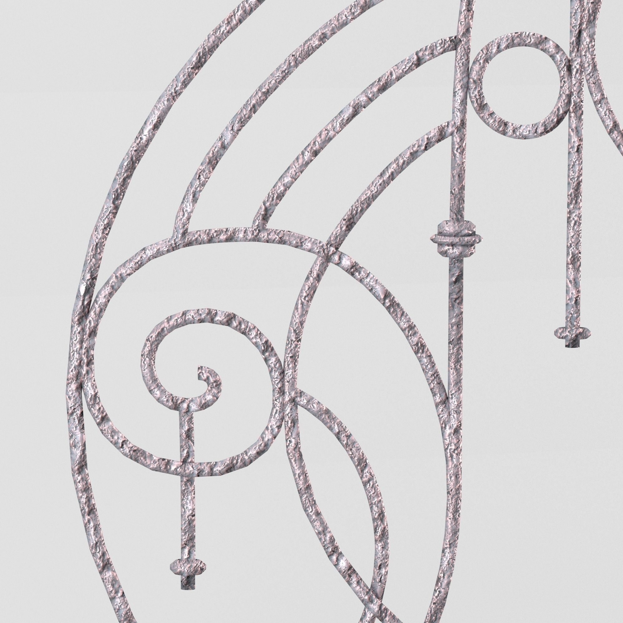 Decorative wrought iron lattice in retro s... 3D Model
