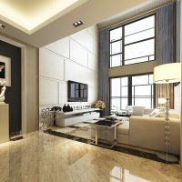 Luxurious High Ceiling House Interior Photoreal 3D Model ...