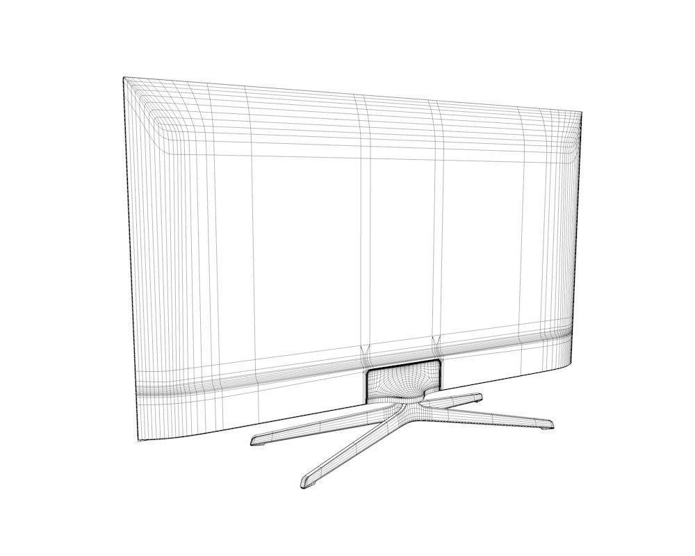 Samsung H6240 Smart TV 3D Model OBJ 3DS FBX C4D DAE
