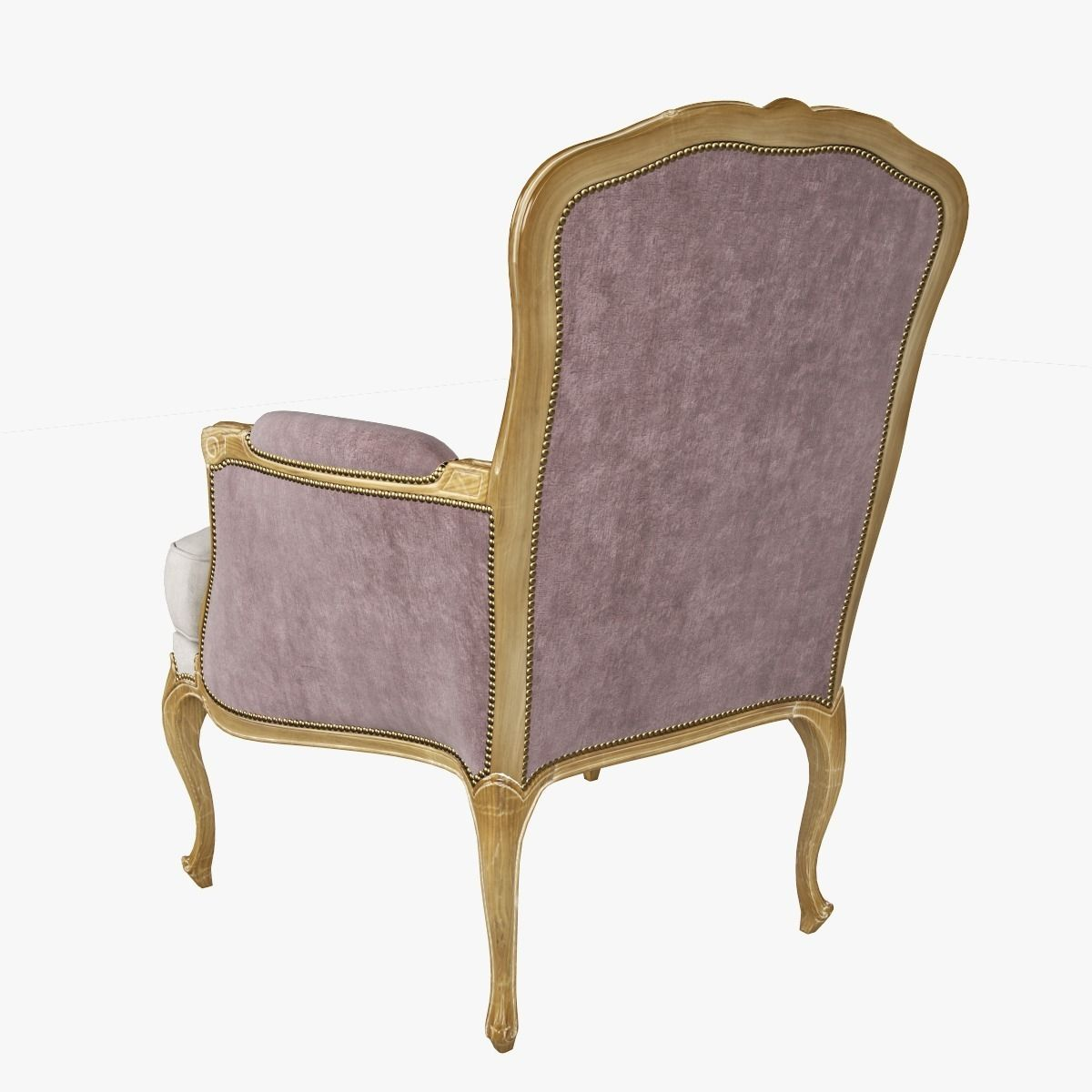 louis xv chair black waiting room chairs chevigny bergere 3d model max cgtrader