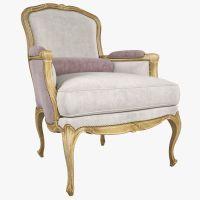 Chevigny Louis XV Bergere Chair 3D Model MAX | CGTrader.com