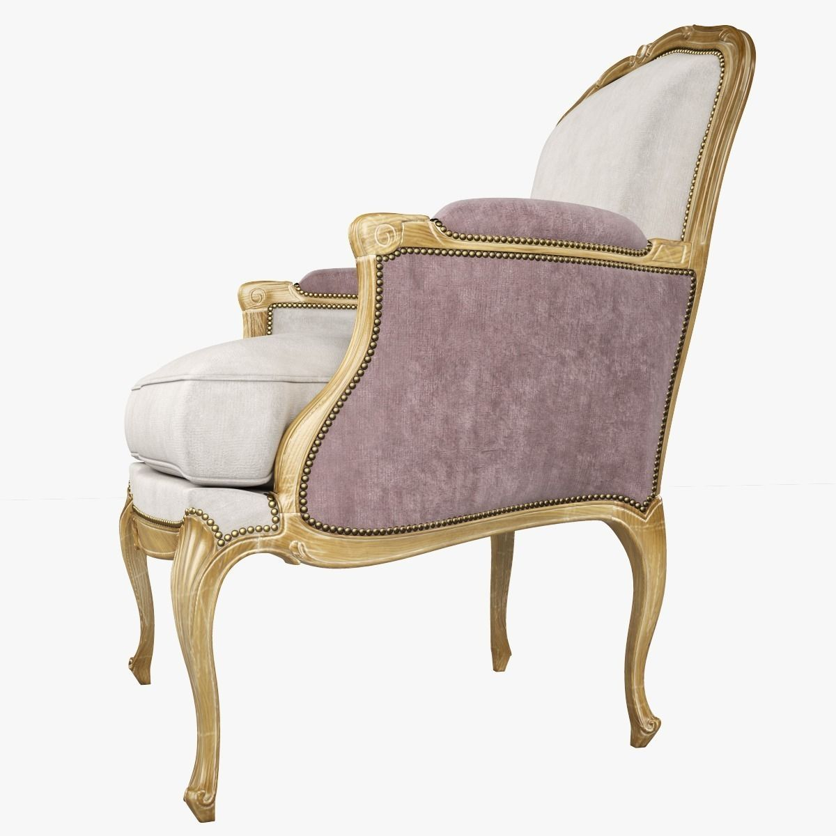 louis xv chair pottery barn anywhere insert chevigny bergere 3d model max cgtrader