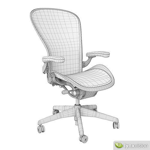 white aeron chair modern style adirondack chairs by herman miller 3d model cgtrader max obj mtl fbx 4