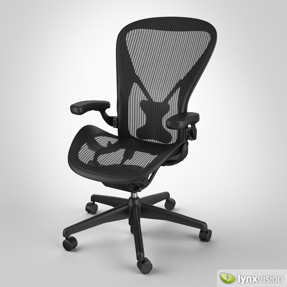 Aeron Chair by Herman Miller 3D Model max obj fbx