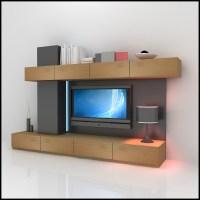 tv wall unit modern design x 06 3D Models - CGTrader.com