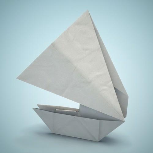 Origami boat 3D Model obj fbx dae lxo  CGTradercom