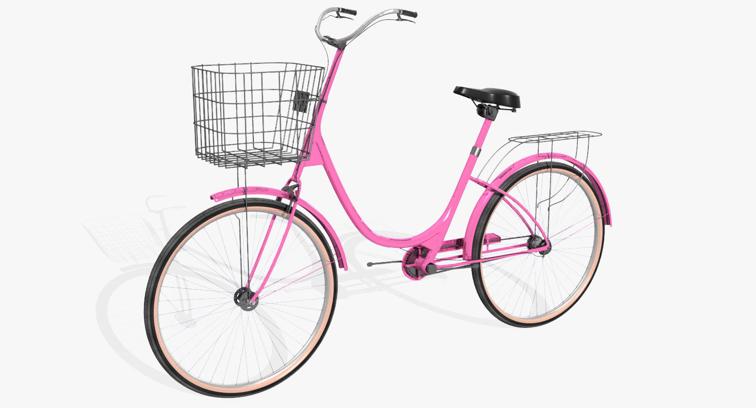 ladies bicycle 3d model