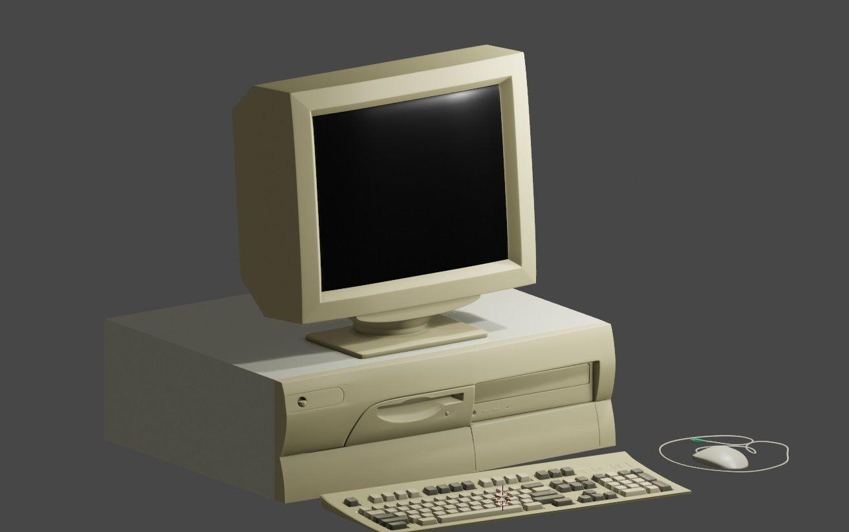old 90s desktop computer