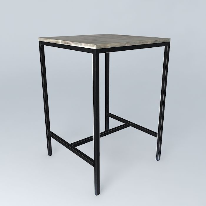 high square dining table long island maisons du monde 3d model