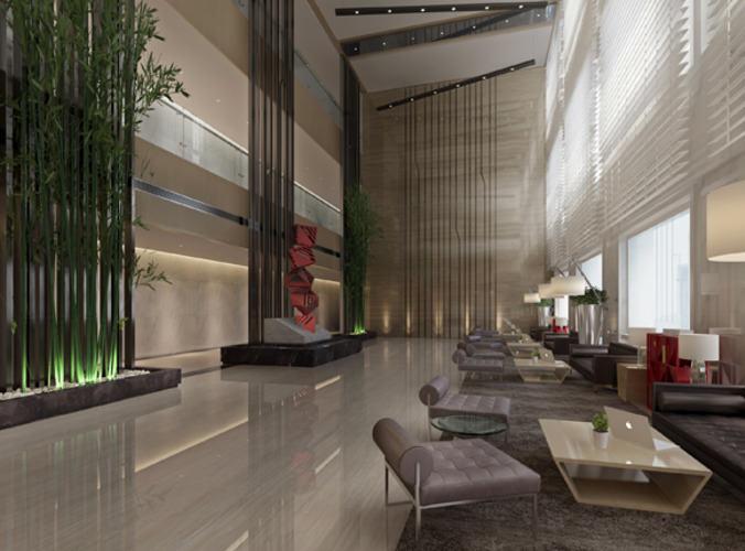 3D model Modern hotel lobby interior  CGTrader