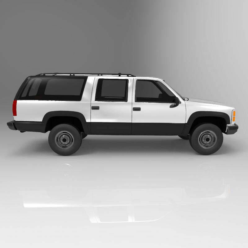 Chevrolet Suburban 1998 3d Model Obj  Cgtradercom