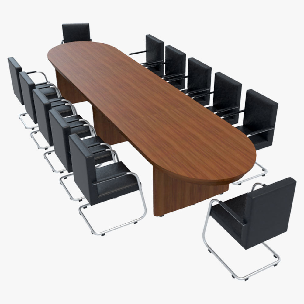 Table With Chairs Conference Table With Chairs 1 3d Model
