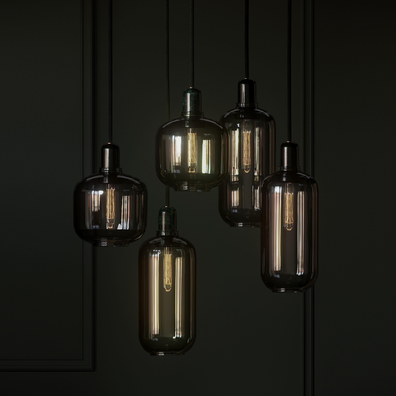normann copenhagen amp lamp smoke black and green lamps 3d model 3d model