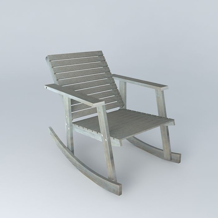 alabama rocking chair teal club 3d model cgtrader