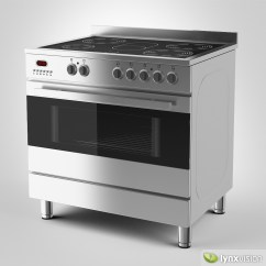 Electric Stove Ez Go Txt 36 Volt Wiring Diagram 3d Model Euromaid And Grill Cgtrader