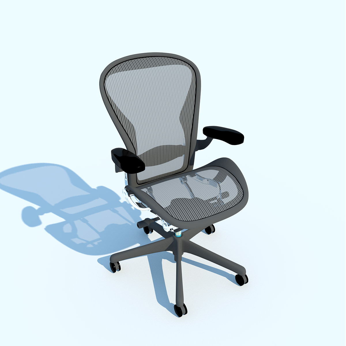 Work Chair Aeron Work Chair Herman Miller 3d Model Max Obj 3ds