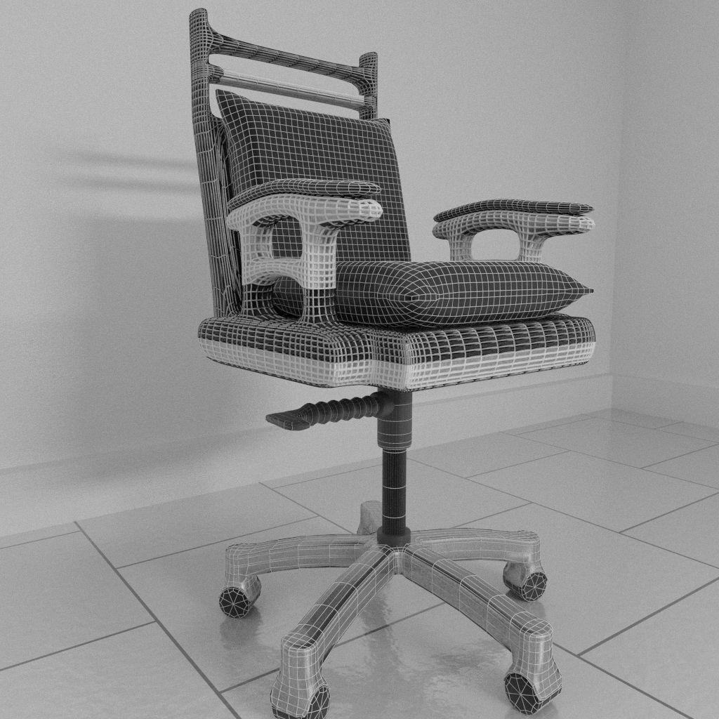 revolving chair parts hyderabad fishing bag rotating 1 3d model blend cgtrader