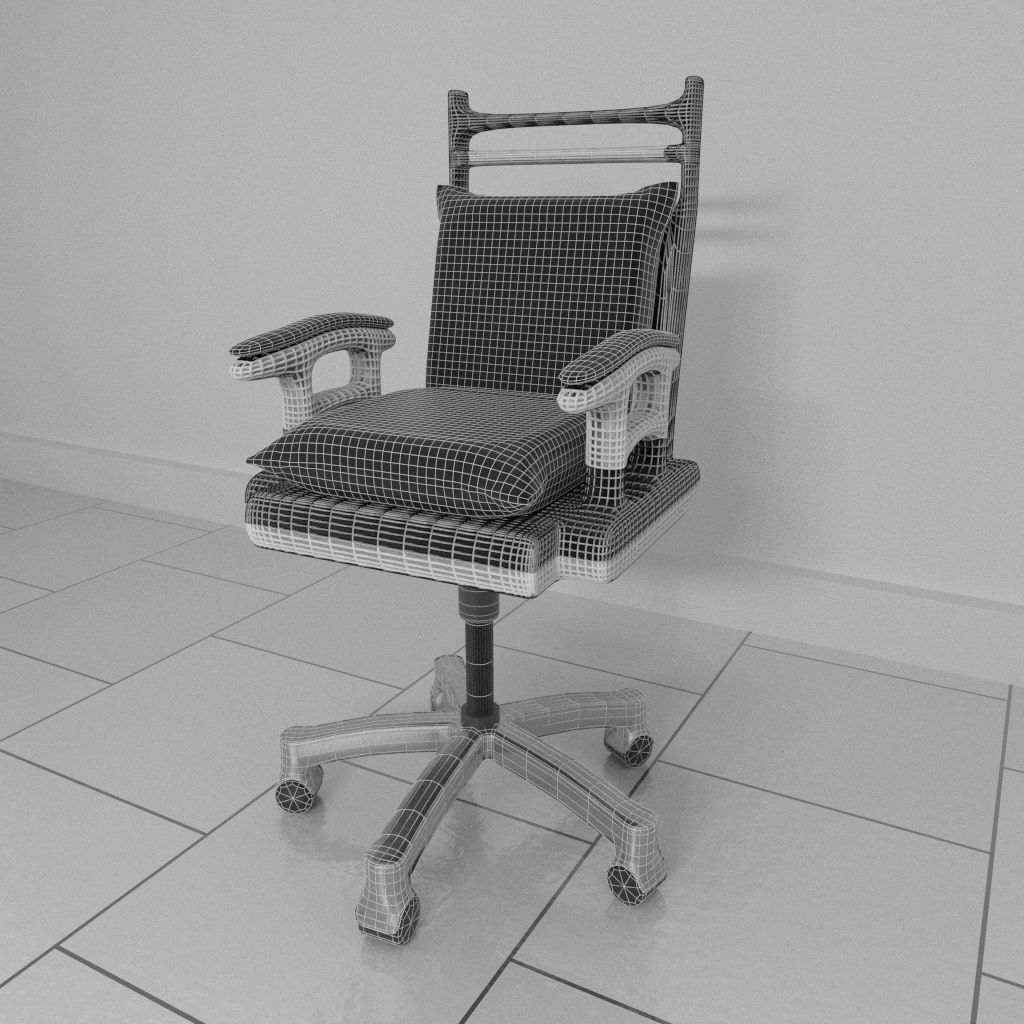 revolving chair parts hyderabad custom high covers rotating 1 3d model blend cgtrader
