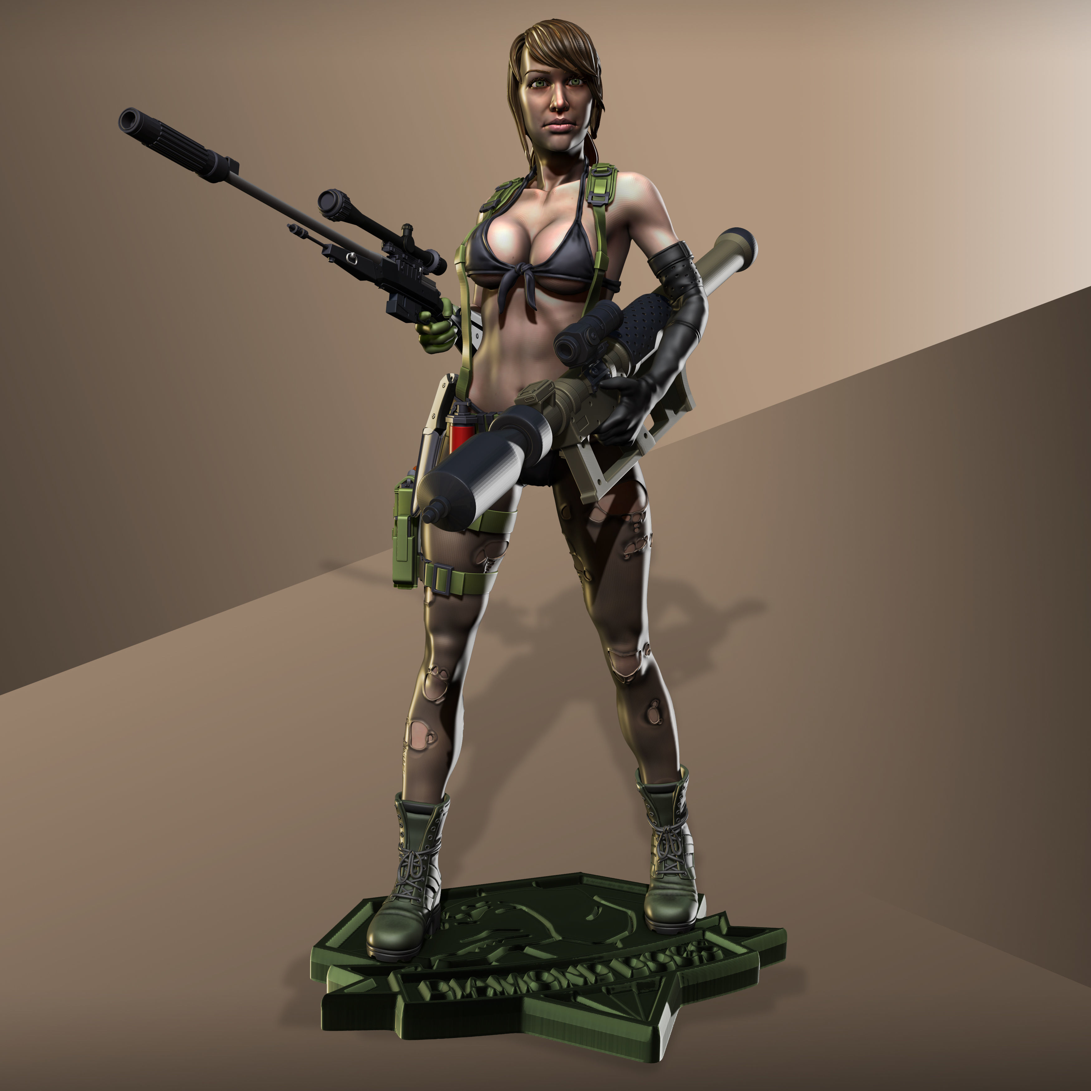 Metal Gear Solid 5 - Quiet model for 3d Print collectibles