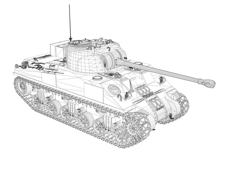 M4 Sherman Firefly VC 3D Model OBJ 3DS C4D LWO LW LWS