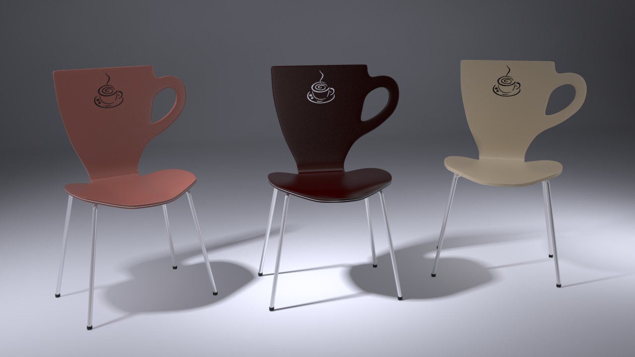 Chair Cup Coffee free 3D Model MAX  CGTradercom