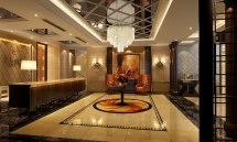 Elegant Hotel Vestibule 3d Model Max
