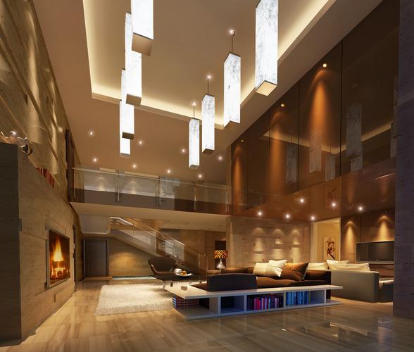 Huge living room 3D model