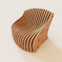 Parametric armchair 3D Model .max - CGTrader.com