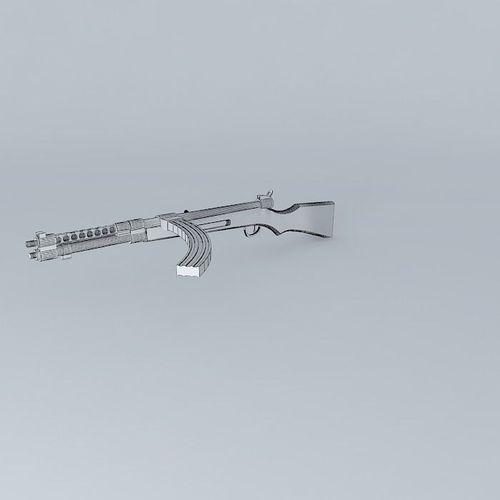 TYPE 100 SMG Type 100 submachine gun japa free 3D Model