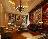 Luxury living room 3D Model .max