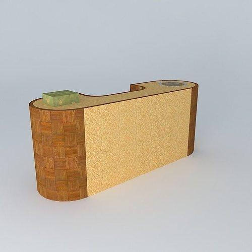 3D model Cashier Counter  CGTrader