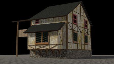 Simple Medieval House 3D model CGTrader