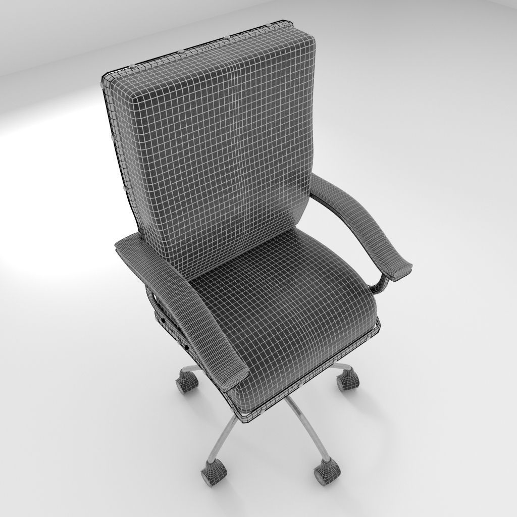revolving chair parts hyderabad navy blue slipper rotating 2 3d model obj 3ds fbx blend dae x3d