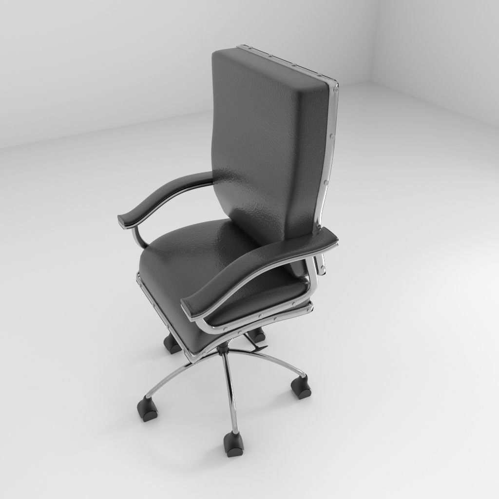 revolving chair parts hyderabad cool chairs rotating 2 3d model obj 3ds fbx blend dae x3d